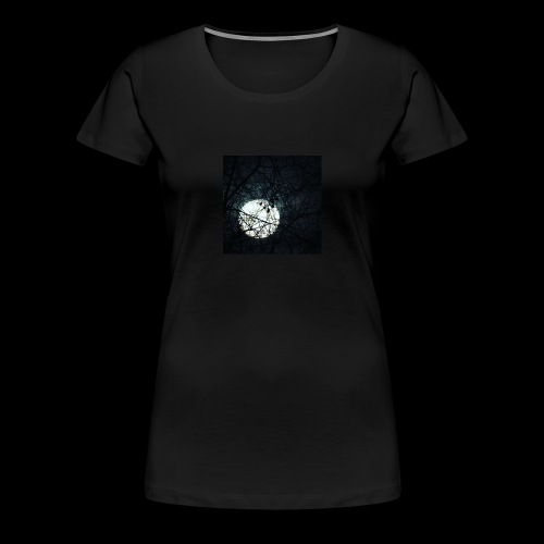 trees covering the Moon - Women's Premium T-Shirt