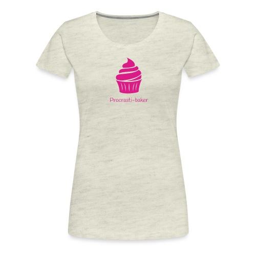 Procrasti-baker - pink - Women's Premium T-Shirt
