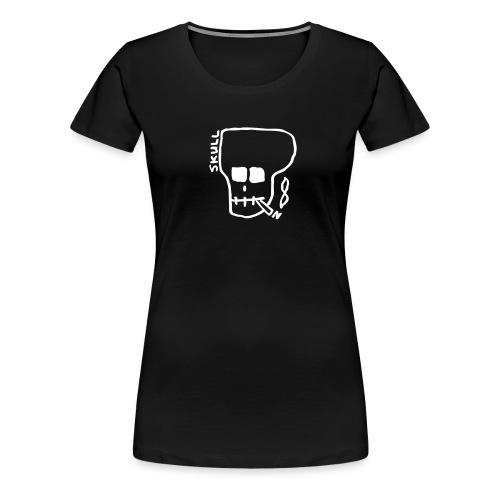 Smoking skull - Women's Premium T-Shirt