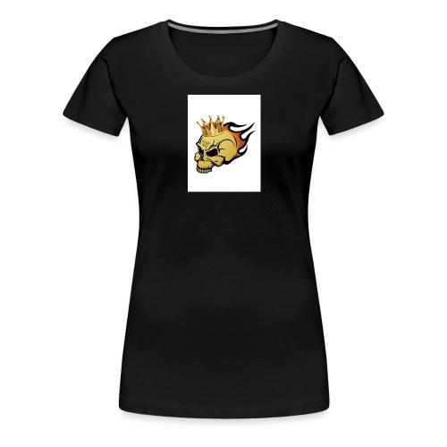 no way man king skull - Women's Premium T-Shirt