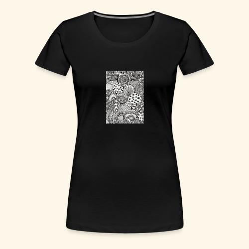 Black and white tigerprint - Women's Premium T-Shirt