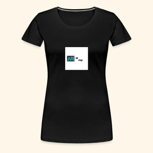 premium AR vlogs half sleeves tee - Women's Premium T-Shirt