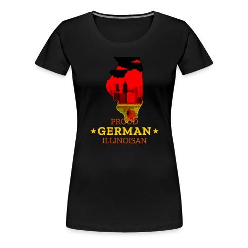 Proud German Illinoisan - Illinois State Pride - Women's Premium T-Shirt