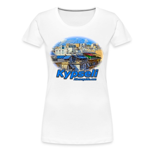 Kypseli apartments jpg - Women's Premium T-Shirt