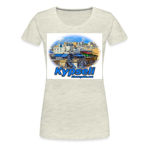 Kypseli apartments jpg - Women's Premium T-Shirt