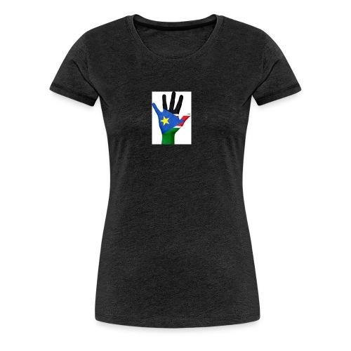 south sudan hand flag - Women's Premium T-Shirt