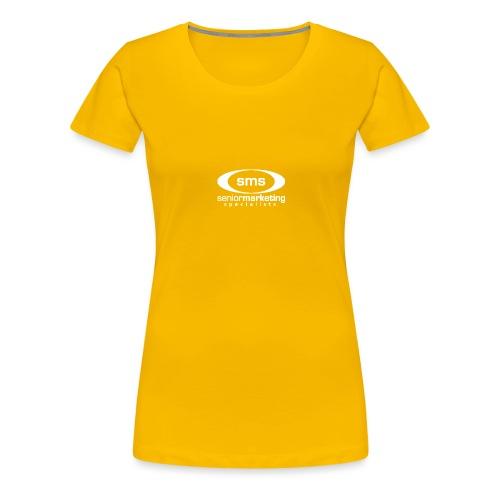 SMS White Logo - Women's Premium T-Shirt
