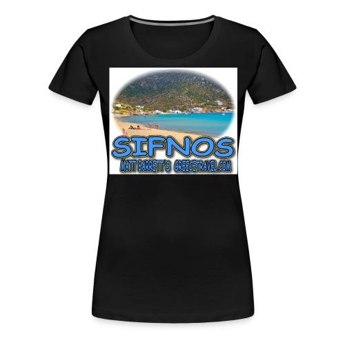 SIFNOS VATHI jpg - Women's Premium T-Shirt