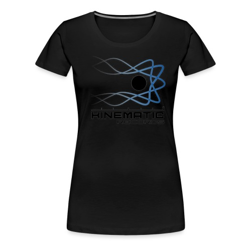 kinematic White logo - Women's Premium T-Shirt