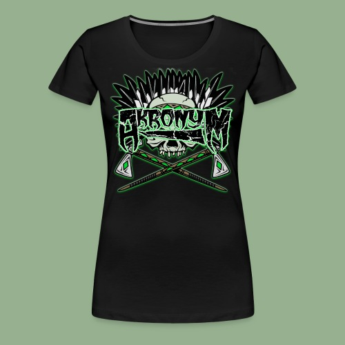 Akronym Skull and Logo - Women's Premium T-Shirt