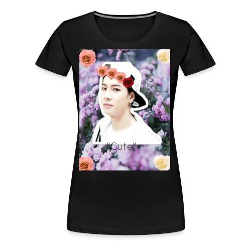 Jackson Wang- ''Cute'' - Women's Premium T-Shirt