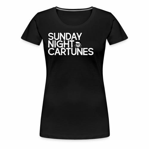 Sunday Night Cartunes Skull - Women's Premium T-Shirt