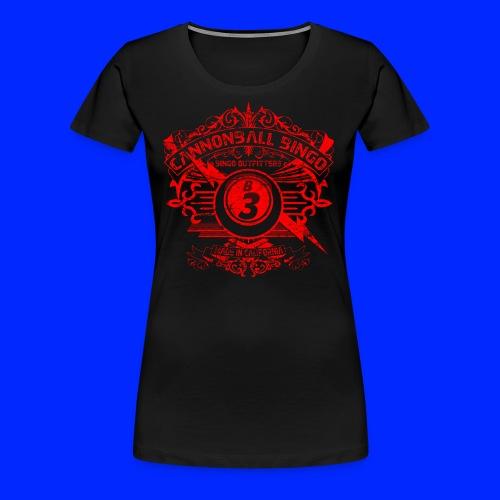 Vintage Cannonball Bingo Crest Red - Women's Premium T-Shirt