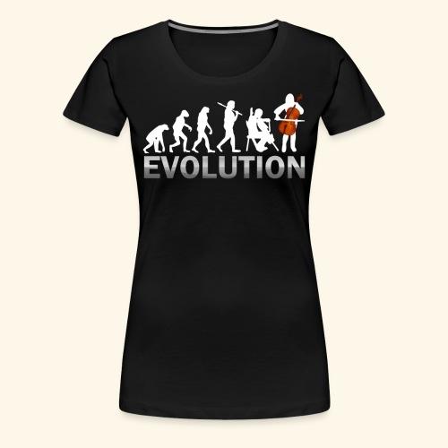 Cello Evolution - Women's Premium T-Shirt