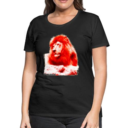 Lion Cutout Red - Women's Premium T-Shirt