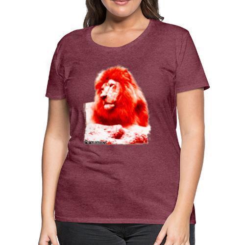 Lion Cutout Red - Women's Premium T-Shirt