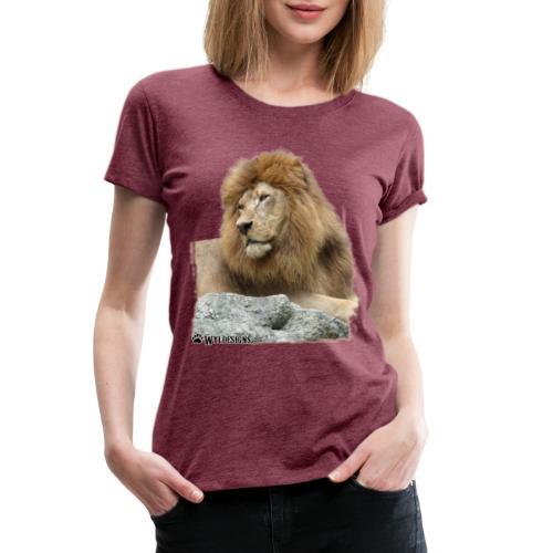 Lion Cutout - Women's Premium T-Shirt