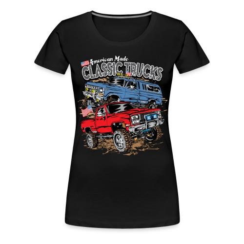American Made Classic Trucks - Women's Premium T-Shirt