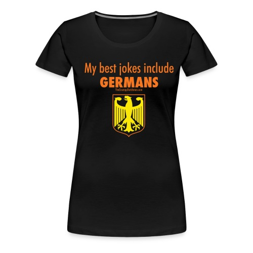 16 Germans colored lettering - Women's Premium T-Shirt