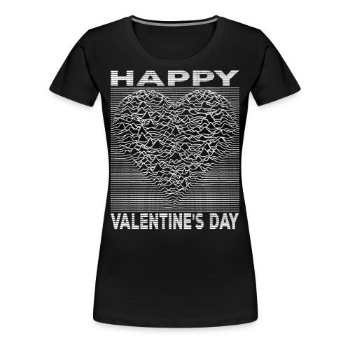 Love Lines Happy Valentines Day Heart - Women's Premium T-Shirt