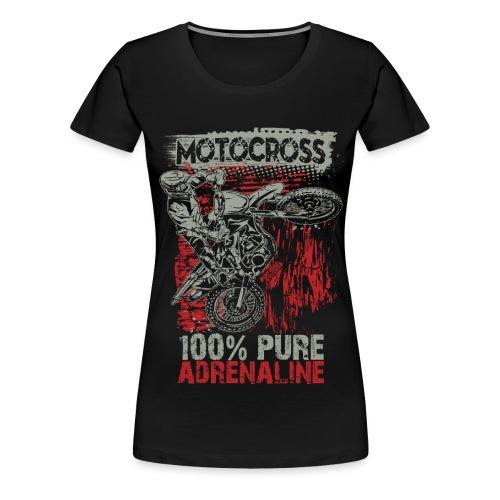 Motocross Pure Adrenaline - Women's Premium T-Shirt