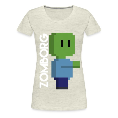 Minecraft Zombie Pixel art Mug - Women's Premium T-Shirt
