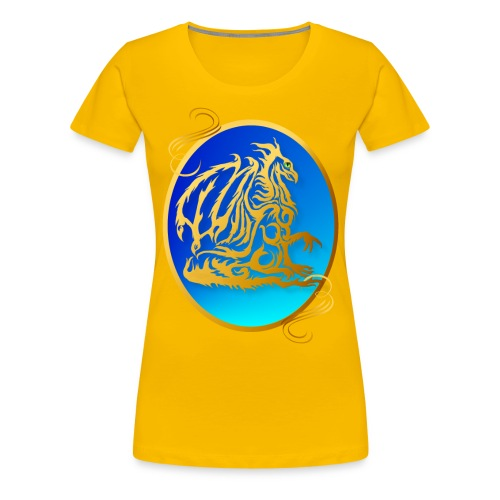 Gold Dragon 3 Oval - Women's Premium T-Shirt
