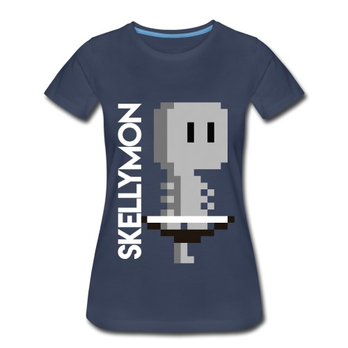 Skelly, pixelart mug - Women's Premium T-Shirt