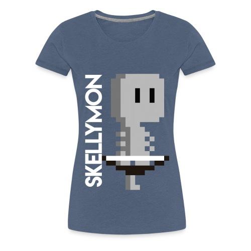 Skelly, pixelart mug - Women's Premium T-Shirt