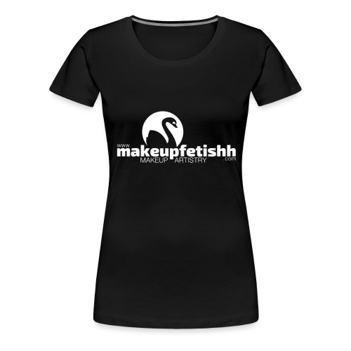 makeupfetishh logo white - Women's Premium T-Shirt