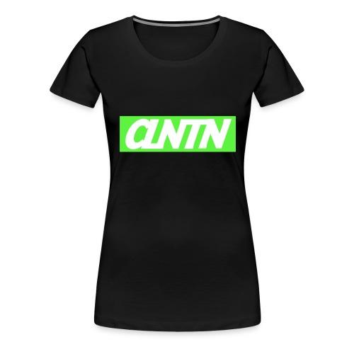 Green Box White Text png - Women's Premium T-Shirt