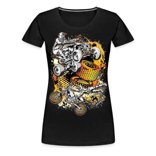 FMX Freestyle Abstract - Women's Premium T-Shirt