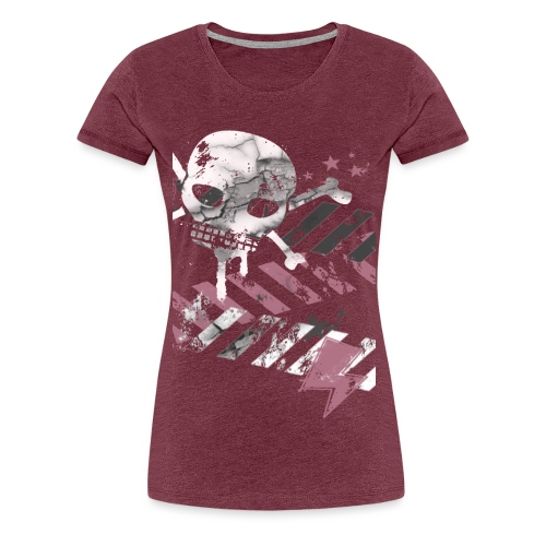 Elliz Cracked Skull Tee - Women's Premium T-Shirt