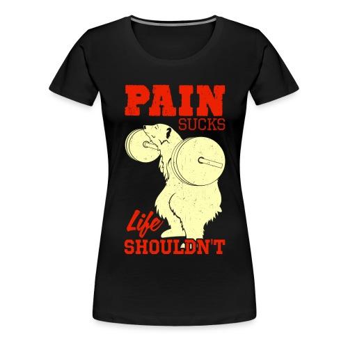 mattsinsd Bear barbell squat design png - Women's Premium T-Shirt