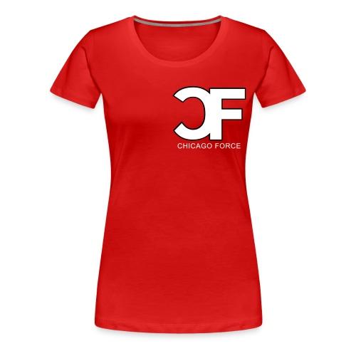 CF Logo Original vector w Chicago Force - Women's Premium T-Shirt
