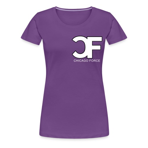 CF Logo Original vector w Chicago Force - Women's Premium T-Shirt