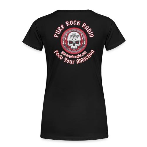 PRR Molenoise Skull (Front) + Circle Logo (Back) - Women's Premium T-Shirt