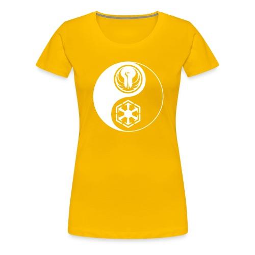 Star Wars SWTOR Yin Yang 1-Color Light - Women's Premium T-Shirt