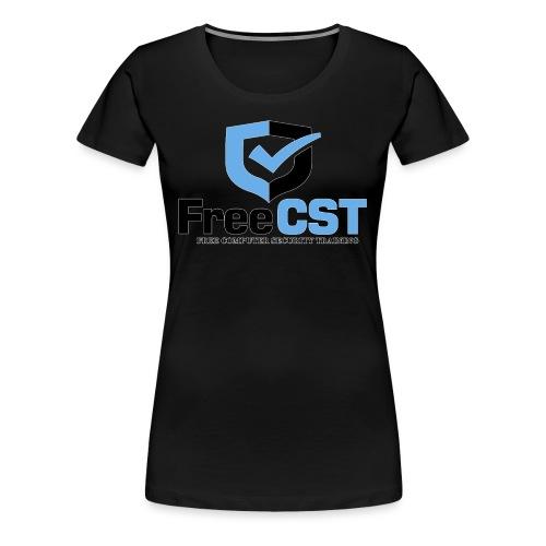 FreeCST - White Border - Women's Premium T-Shirt