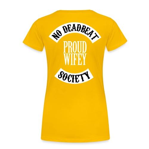 PROUD WIFEY 4 png - Women's Premium T-Shirt