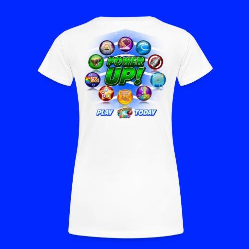 Vintage Cannonball Bingo Power-Up Tee - Women's Premium T-Shirt