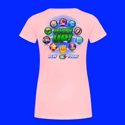 Vintage Cannonball Bingo Power-Up Tee - Women's Premium T-Shirt