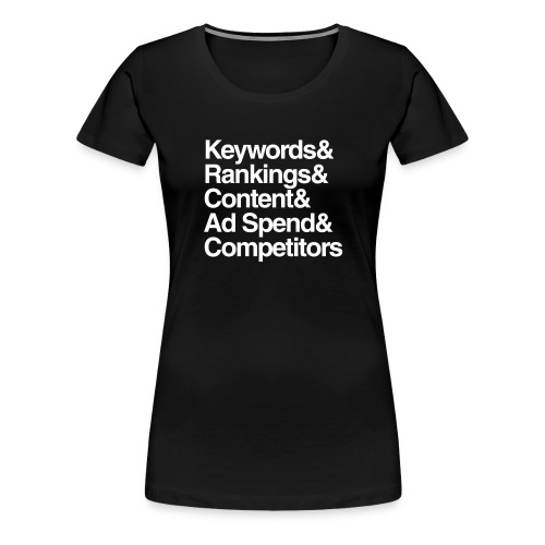 SEM-Ampersand-Wht - Women's Premium T-Shirt