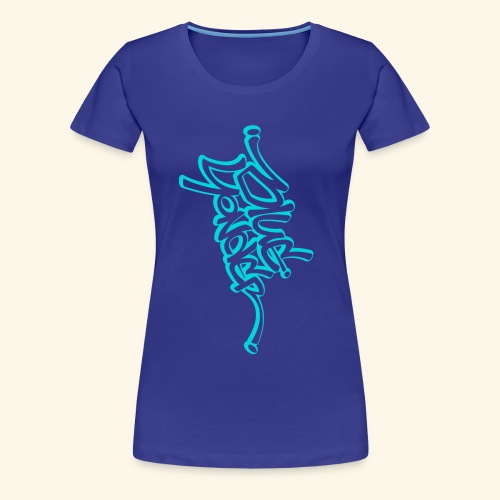 BY full vert blu white - Women's Premium T-Shirt