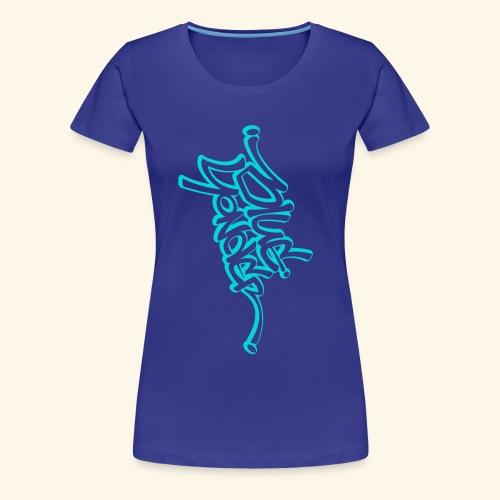 BY full vert blu white - Women's Premium T-Shirt