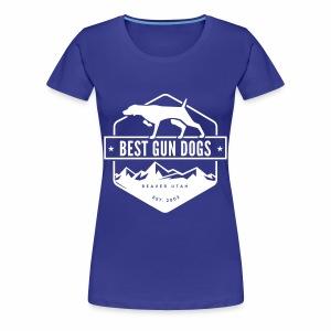 Bestgundogs logo white - Women's Premium T-Shirt