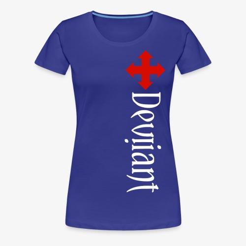 Deviiant white lft side vert - Women's Premium T-Shirt