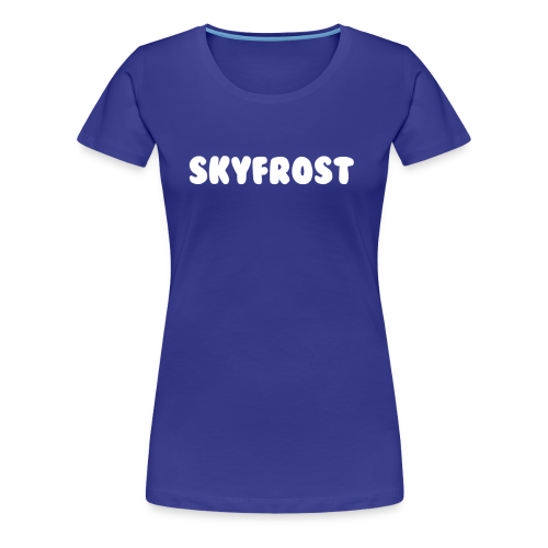 SkyFrost White Text - Women's Premium T-Shirt