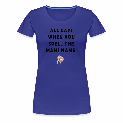MFDOOM ALL CAPS - Women's Premium T-Shirt