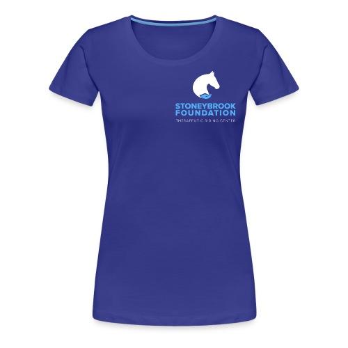 sbf logo stacked white lblue - Women's Premium T-Shirt
